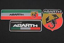 3PCS Alloy Emblem Sticker for Abarth Fiat 500 695 Punto Brava Bravo Tank Trunk