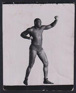 1910 JACK JOHNSON Fight Pose Vintage Boxing Photo
