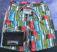 Vilebrequin Homme Shorts De Bain Long Okoa Taille M UK 26/28 en verre coloré vert olive