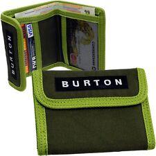 BURTON Mini Geldbörse Portemonnaie Geldbeutel STOFF DUNKEL GRÜN Geldtasche NEU