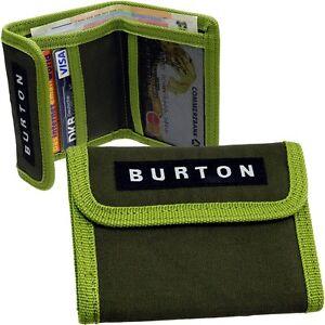 Burton Mini Purse Wallet Fabric Dark Green Wallet New
