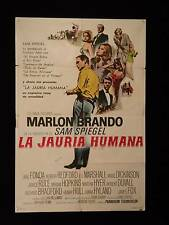 THE CHASE (1966) * MARLON BRANDO * JANE FONDA * REDFORD * ARGENTINE 1sh POSTER