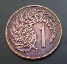 New Zealand 1983-1 Cent Bronze Coin Queen Elizabeth II silver fern leaf