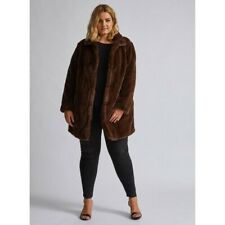 Plus Size Fur Coat Fur Jacket Winter Coat Faux Fur Size 24 NEW