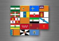 Planche autocollant sticker etiquette drapeaux region province etats espagne
