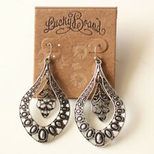 New Lucky Brand Floral Drop Earrings Gift Vintage Women Party Holiday Jewelry FS