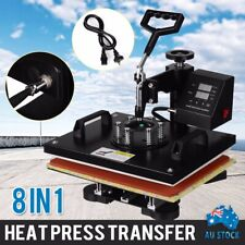 8 in 1 Heat Press Machine Transfer Mug Hat Cup Sublimation Printer Printing AU