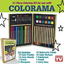 Soo Cool Colorama As Seen On Tv 51pc Coloring Kit Kid & Adult Coloring Set
