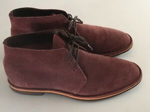 Cole Haan Chukka Desert Boots Hibiscus Mulberry Suede Leather Mens Size US 10 M