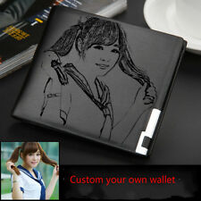 Custom Leather engraved wallet Personalize Photo Wallet Choose what you want