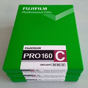 "Fuji Pro160C 5""x4"" colour negative film / 3 boxes ( 30 sheets )"