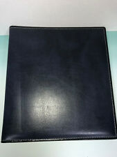 Blue Leather HENRO Photo Album Scrapbook Black Paper Pages with Tissue Dividers