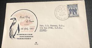 Australian Antarctic Territory FDC Royal 1961 Mawson,Wilkes,Davis & Macquarie Is