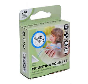 HOMEHOBBY by 3L Clear Large Photo Corners 19mm x 250 Acid Free