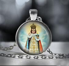 Infant Jesus Of Prague Religious Necklace. Nino Jesus De Praga Catholic Pendant