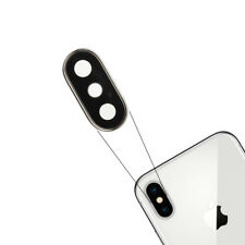 Per Apple iPhone X Rear Back Camera Lens Glass Cover Zaffiro Silver Replacement