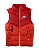 NWT Men's Nike Down Fill Windrunner Vest Gym Habanero Red Sz Small