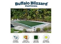 Buffalo Blizzard 16' x 32' Rectangle GREEN Swimming Pool In-Ground Winter Cover