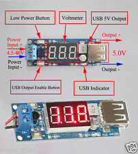 DC4.5v-40v 12v To 5V 2A USB Charger Step-down Converter Car LED Voltmeter Module