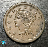 1854 Braided Hair Large Cent --  MAKE US AN OFFER!  #B6250