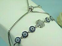 Turkish Handmade Jewelry 925 Sterling Silver Sapphire Stone Women Bracelet