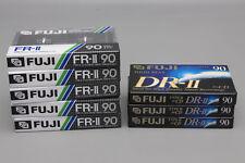 Lot of Five (5) Fuji FR-II 90 & Three (3) DR-II 90 Type II High Bias Audiocasset