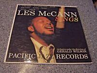 """Les McCann """"Sings"""" PACIFIC JAZZ LP PJ-31 GERALD WILSON"""