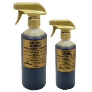 GOLD LABEL IODINE DISINFECTANT SPRAY 250ML or 500ML - Animal First Aid
