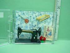 Dollhouse Miniature Sewing Machine & Accessories Chrysnbon #CB45  Plastic 1/12th