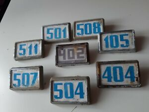 Old soviet door numbers