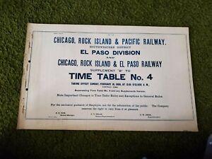 Chicago Rock Island & Pacific El Paso Division TT #4 (2/18/1906)(Used)