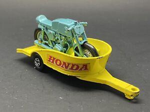 MATCHBOX LESNEY SUPERFAST 38 HONDA MOTORCYCLE  & TRAILER, EXCELLENT, NO BOX