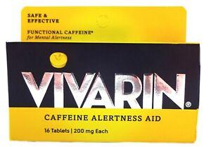 Vivarin Caffeine Alertness Aid Tablets, 200mg (16 Count Tablets)