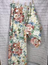 Vintage Dan Rivers 3 Curtain Valance 2 Pillow Sham Set Floral
