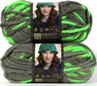 2 Lion Brand Wool-Ease Thick & Quick 511 Parakeet 6 Super Bulky Washable Yarns