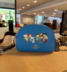 NWT Coach X Peanuts Mini Serena Satchel With Snoopy And Friends