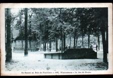 BOIS DE VINCENNES (94) JEU de BOULE / Partie de PETANQUE vers 1930