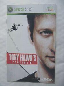 55136 Instruction Booklet - Tony Hawk's Project 8 - Microsoft Xbox 360 (200