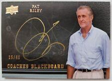 Pat Riley signed autographed RARE 2011 'Coaches Blackboard' card - #15/40 auto