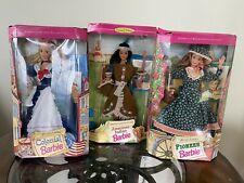 New ListingBarbie American Stories Collection Colonial American Indian & Pioneer Lot New!