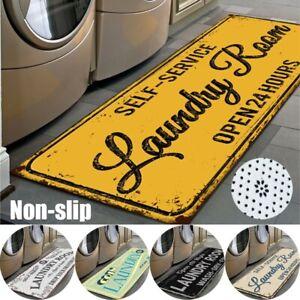 Floor Rug Mat Carpet For Laundry Room Kitchen Bathroom Rectangle Vintage Style