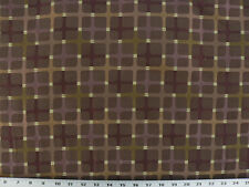 Drapery Upholstery Fabric Squares Plus - Burgundy, Plum, Copper, Green on Brown