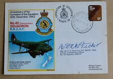 WW2 R.N.Z.A.F 42 SQUADRON 35TH ANNIVERSARY 1978 COVER SIGNED Wg Cdr R D MCVICKER