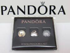 New Pandora November Citrine & Clear CZ Petite Mini Charms 792091CI 4 LOCKET