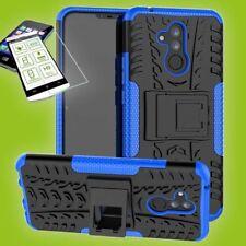 Para Huawei Mate 20 Lite Hybrid Bolsa Exterior 2 Piezas Azul Funda + H9 Glas