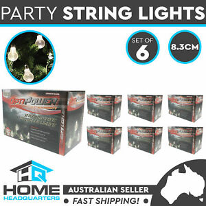 6x Globe White Party Fairy Light Pack of 12 Bulb LED 8.3 String Vintage Lights