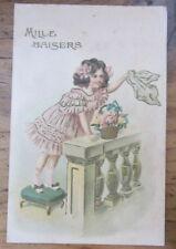 Cartolina d'epoca in rilievo Bambini -1907 - postcard - tarjeta -