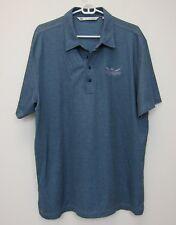 Travis Mathew Men's Santa Barbara Brewing Company Polo Shirt XL Blue Grey