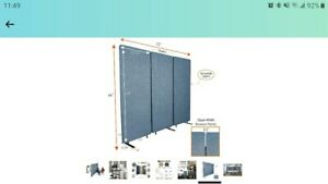 Stand Steady ZipPanels Office Partition | Room Dividers | Three Zip Together Pan