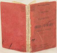 CARCOFORO ELEMENTI DI SOMALO E KI SUAHILI BENADIR AFRICA GRAMMATICA GRAMMAR 1912